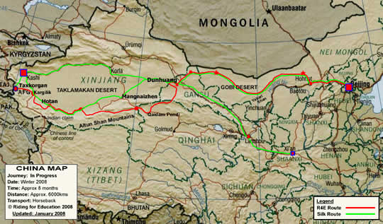 Silk Road Map of Asia
