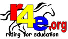 Riding for Education (R4E) Logo